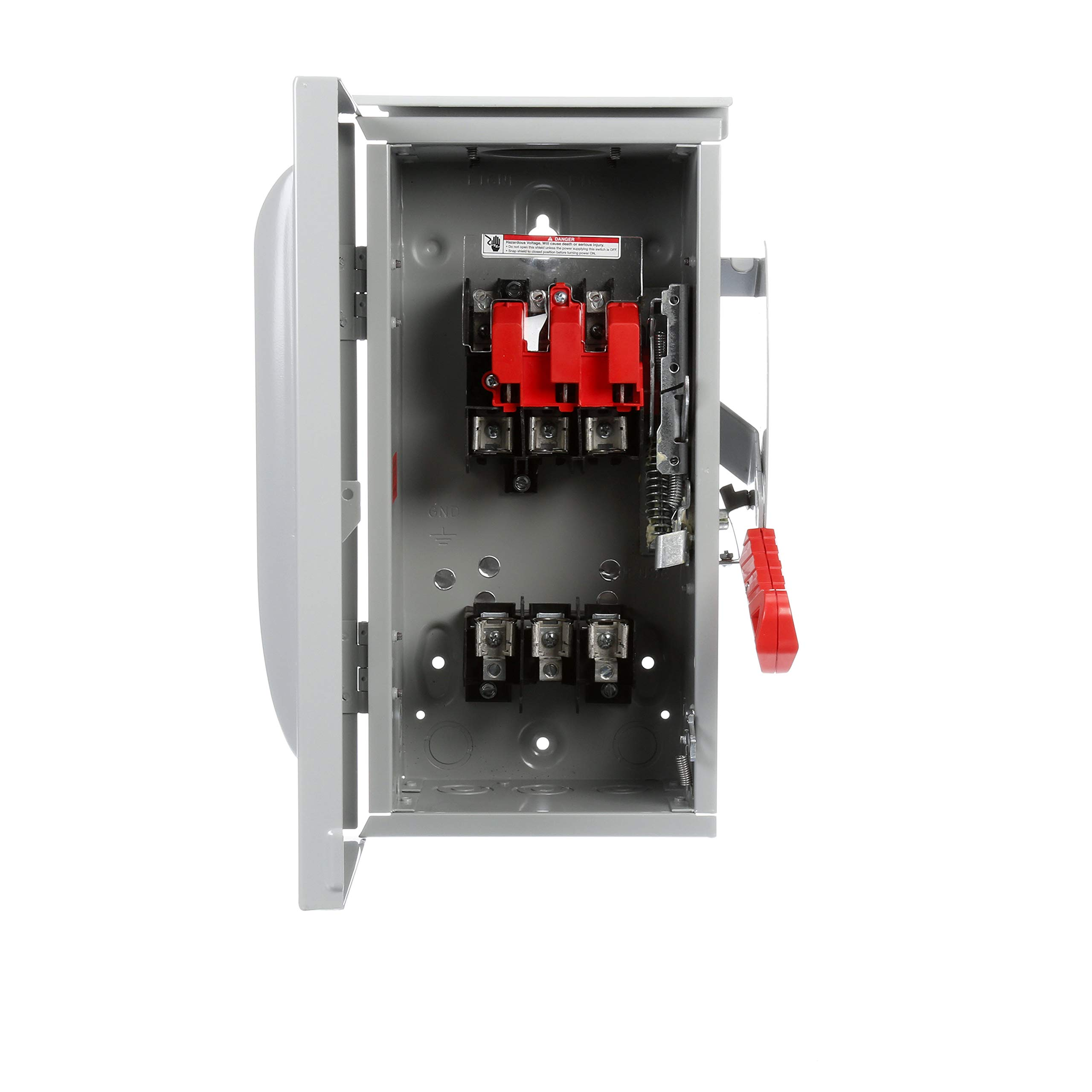 Siemens HF361R 30-Amp 3 Pole 600-volt 3 Wire Fused Heavy Duty Safety Switches by SIEMENS (Image #2)