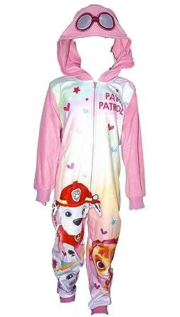 f98dc3e7172ee Pat' Patrouille Pyjama Polaire Fille One Piece Combinaison Grenouillere -  Rose - 2 Ans