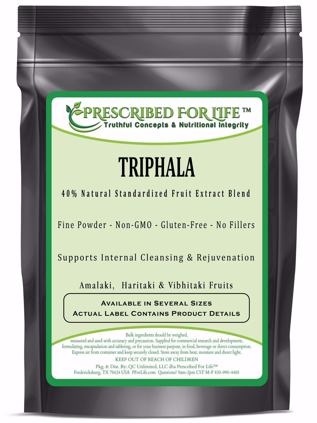 Triphala - 40% Natural Extract Powders of Amalaki, Haritaki & Vibhitaki Fruits of India, 2 kg