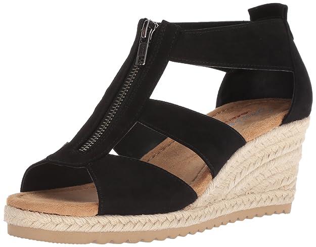 Skechers Cali Women's Monarchs Wedge Sandal,black,9 M US