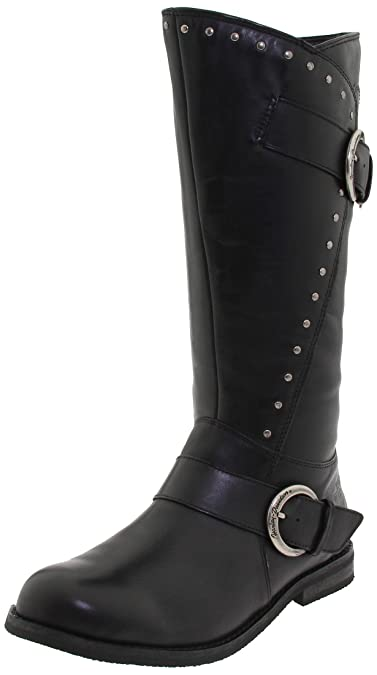 Womens Harley Davidson Women's Sapphire Motorcycle Boot Black 5 M Clearance Sale Size 36