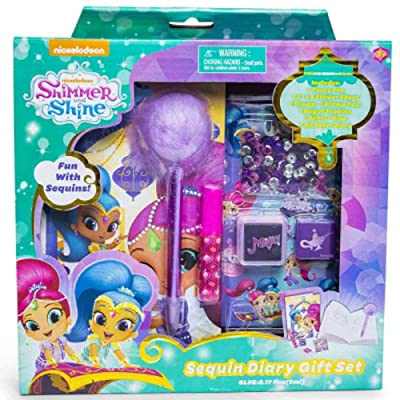 Nickelodeon - Shimmer and Shine Sequin Diary Set: Toys & Games