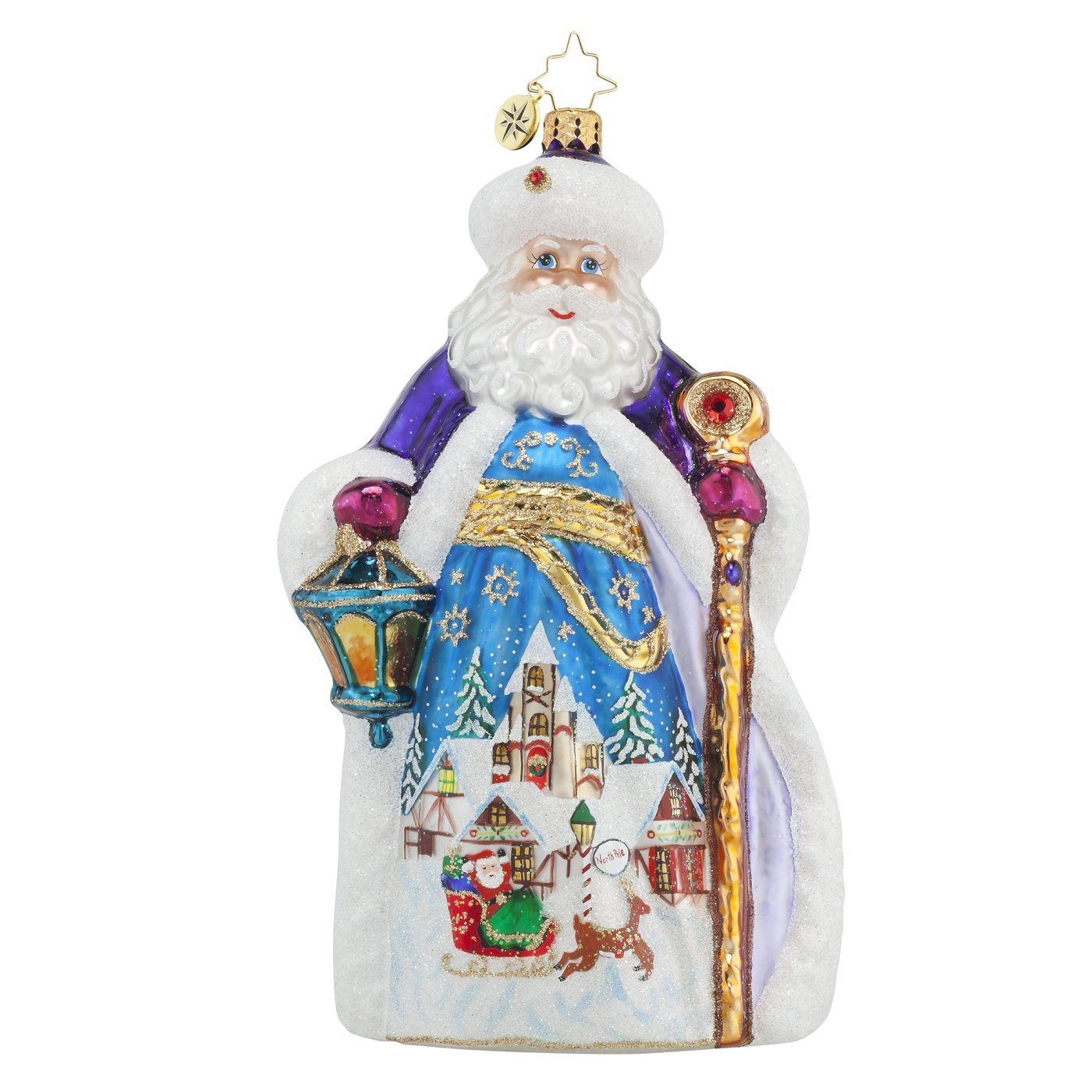 Christopher Radko Winter Dream Nicholas Santa Glass Christmas Ornament - Limited Edition of 900 Pieces