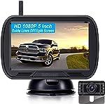 DoHonest V25 HD 1080P Digital Wireless Backup Camera System 5 Inch