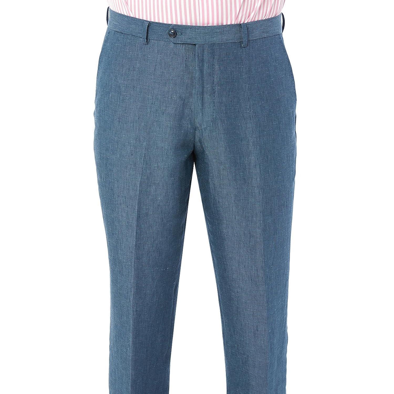 ENZO Mens 2 Button 2 Piece Modern Fit Linen Suit at Amazon Men\'s ...