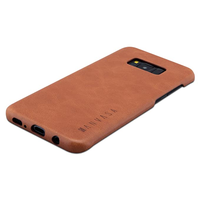 purchase cheap df122 3914e Galaxy S8 Plus Leather Case Back Cover Brown - KANVASA