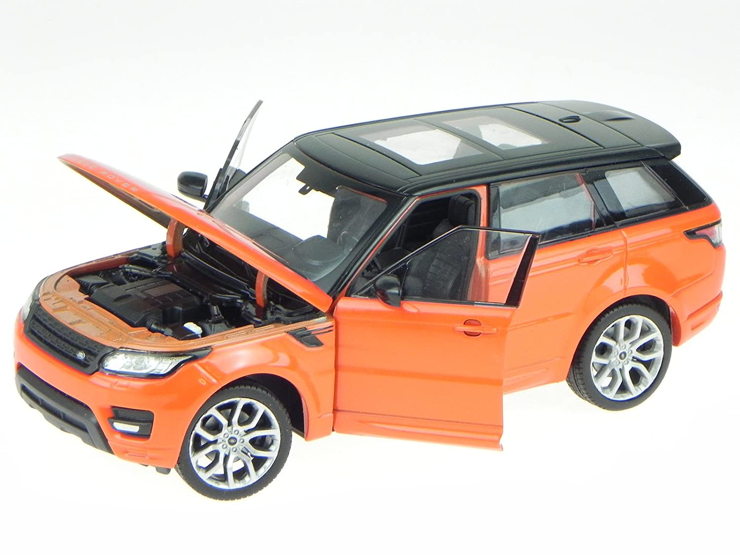 Land Rover Range Rover Sport 2015 orange//schwarz Modellauto 1:24 Welly