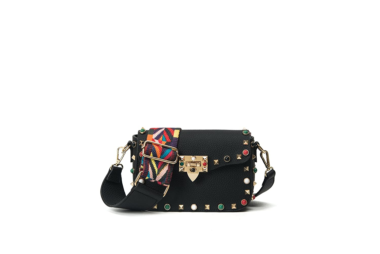 Femme Sacs à bandoulière Sacs de messager couleur Rivet Design Bracelet épaule couleur