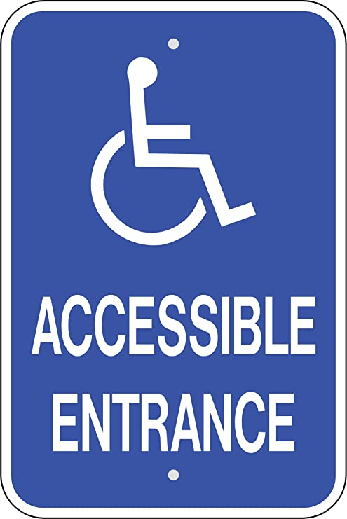 amazon com handicap accessible entrance sign business and store