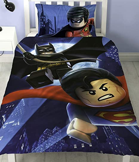 Copripiumino Superman.Set Copripiumino In Policotone Per Letto Singolo Motivo Lego