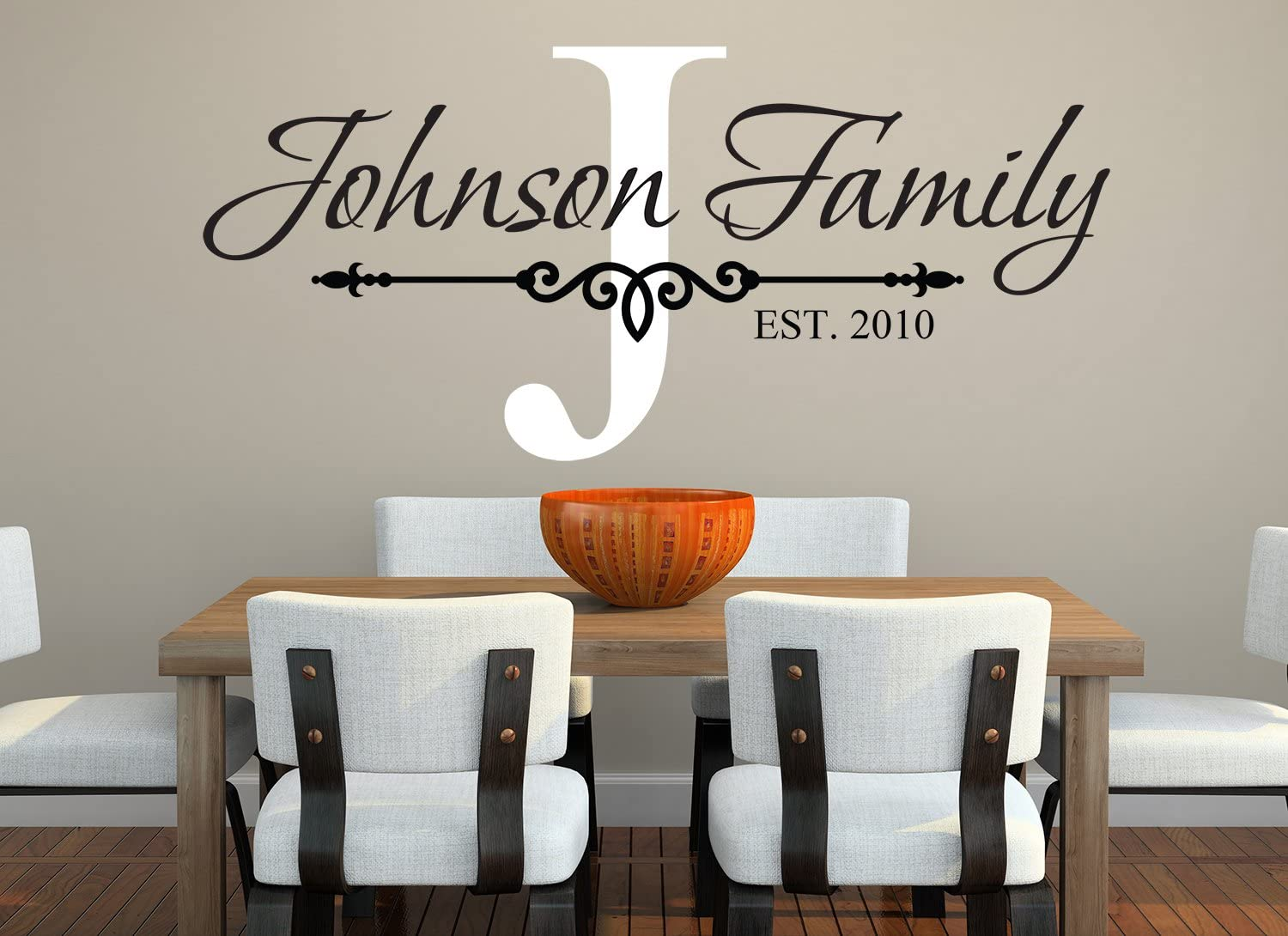 Family Name Wall Decal - Custom Monogram Est Year Living Room Decor