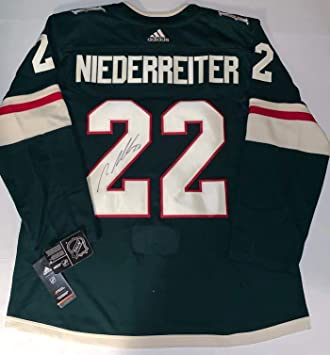 Nino Niederreiter Autographed Jersey - Adidas Adizero - Autographed NHL  Jerseys 8d3896233
