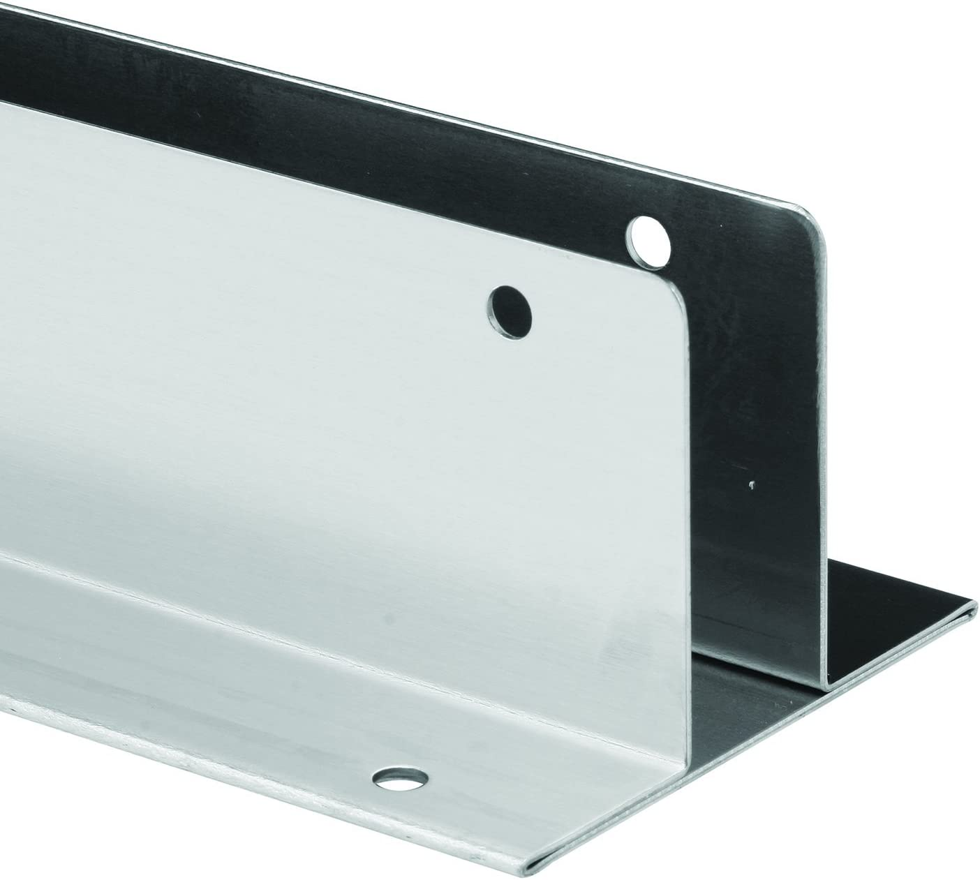 Sentry Supply 650-1520 Continuous Wall Bracket, Two Ear, Fits 1 inch Panels, Stainless Steel, 41 inch Long