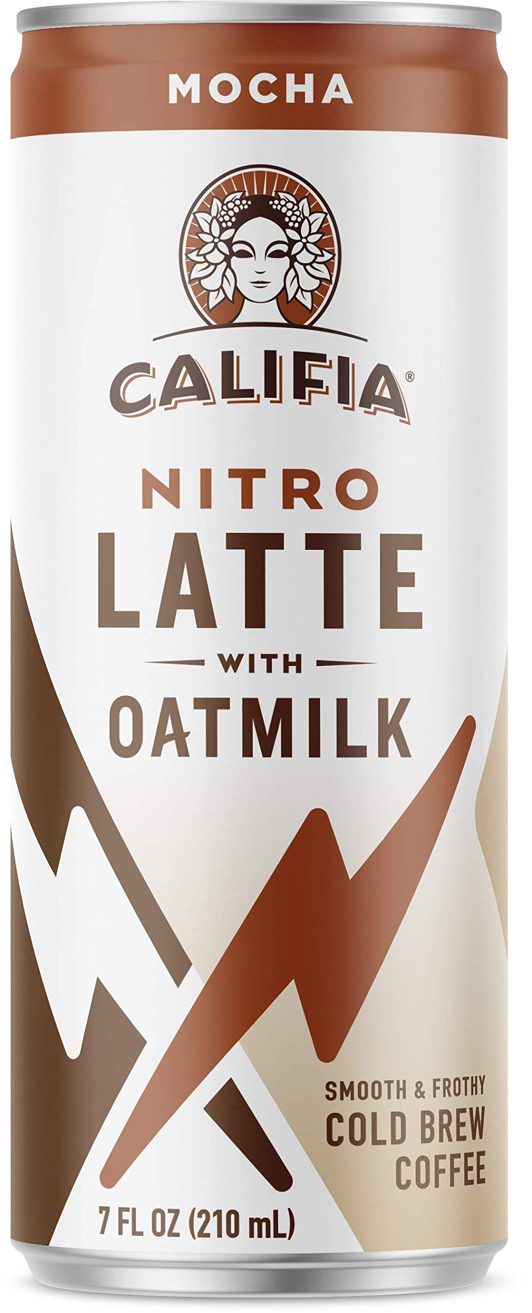 Califia Farms Mocha Oatmilk Nitro Draft Latte Cold Brew Coffee, 7 Oz (12 Cans) | Dairy Free | Gluten Free | On-the-Go | Clean Energy | Plant Based | Non-GMO by Califia Farms