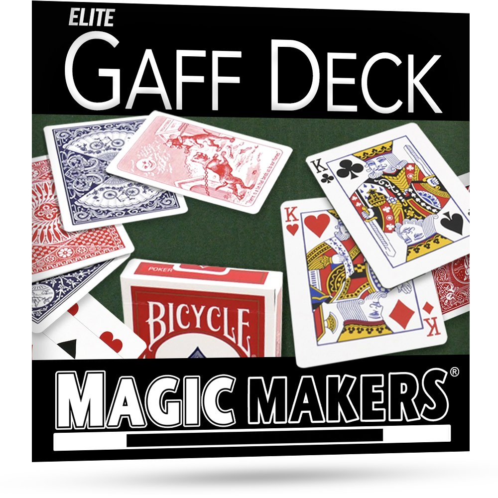 Magic Makers Elite Gaff Deck, Blue Gaff Deck - Over 40 Card Tricks Can Be Performed - For Intermediate To Advanced Card Magic Magicians