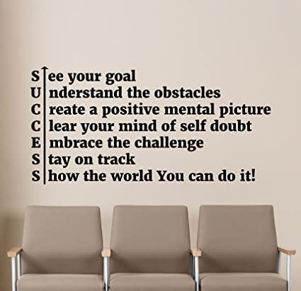 Success Wall Decal Office Motivational Quote Team Work ...