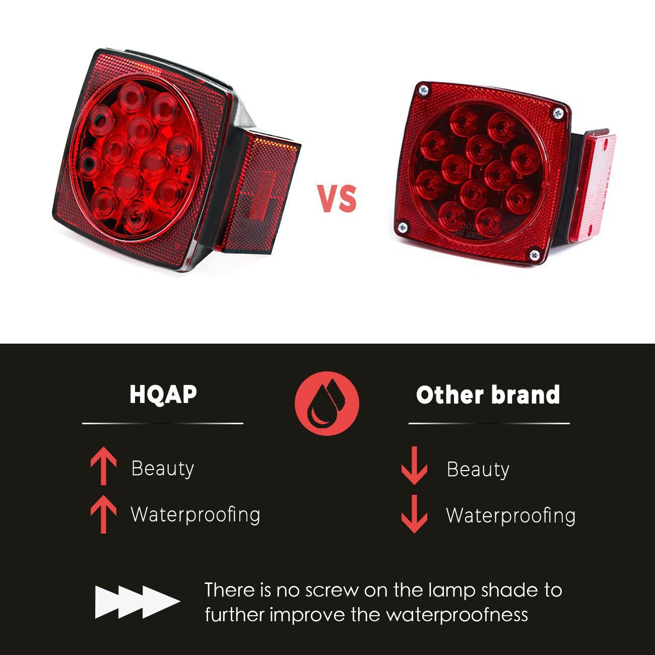 Hqap 2018 12v Submersible Led Trailer Light Kit Two Combined Stop Wiring Harness Lights Taillights Turn Signals Amber Marker 21 Feet And 4 Coded
