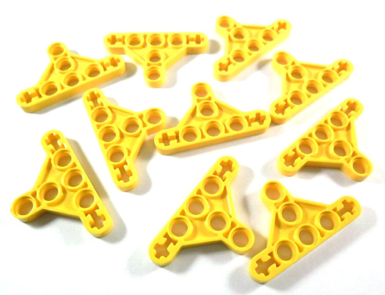 10 x LEGO® Technik, Balken Dreieck dünn, Typ II Gelb 10 x LEGO® Technik Balken Dreieck dünn