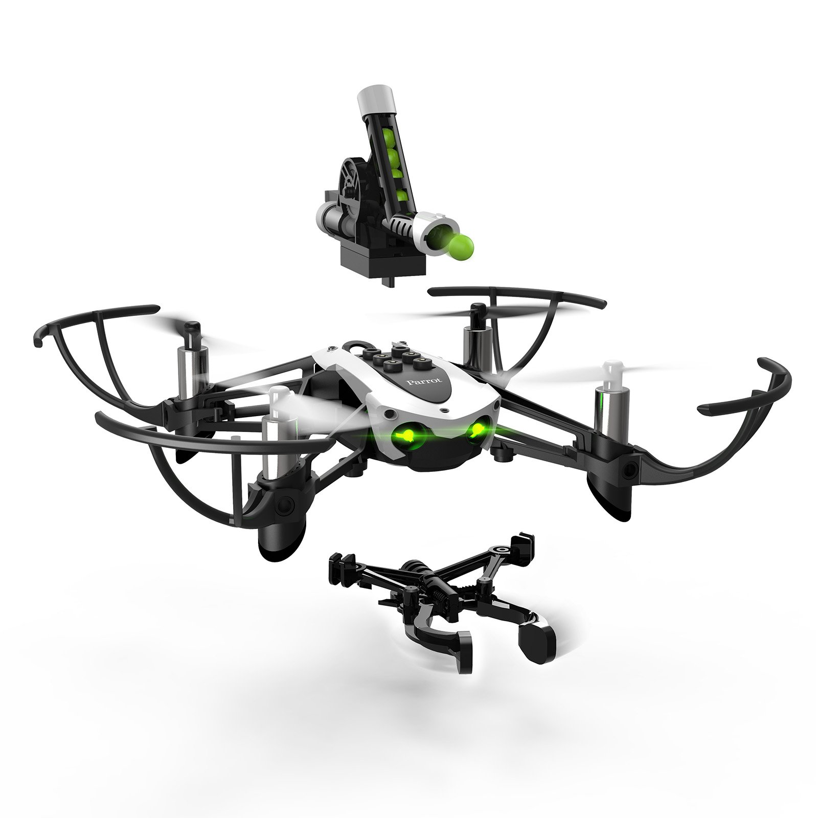 Parrot Minidrone Mambo with Cannon and Grabber Accessories (Certified Refurbished)