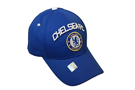 38dfd4f58ae Amazon.com   Chelsea FC- Hat Cap Curved Bill Adjustable-Blue White ...
