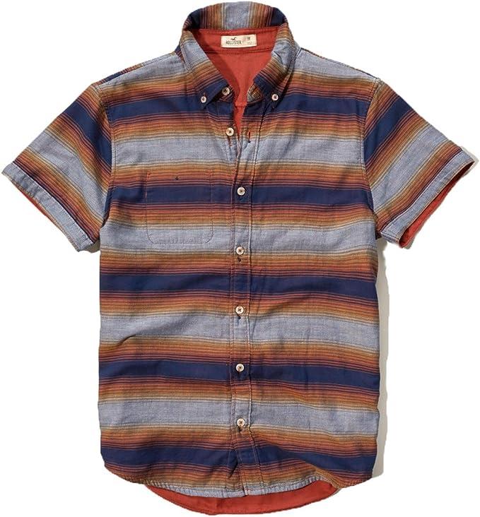 Hollister Hco Hombres de manga corta botón frontal Camisa - -: Amazon.es: Ropa y accesorios