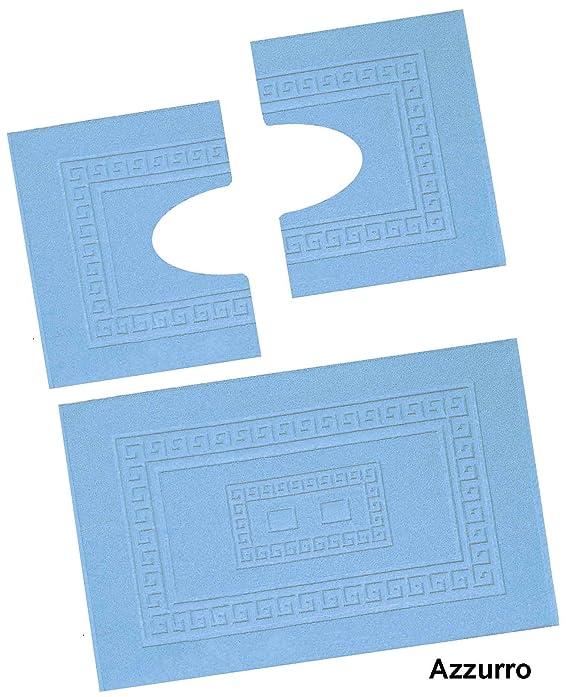 Torino Set 3 tappeti bagno in spugna cm 60X90 + 2 Girowater cm 60x45 ...