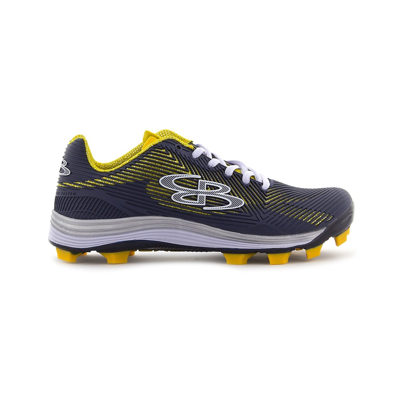 Boombah Women's Spotlight Molded Cleat Navy/Gold - Size 10.5 by Boombah