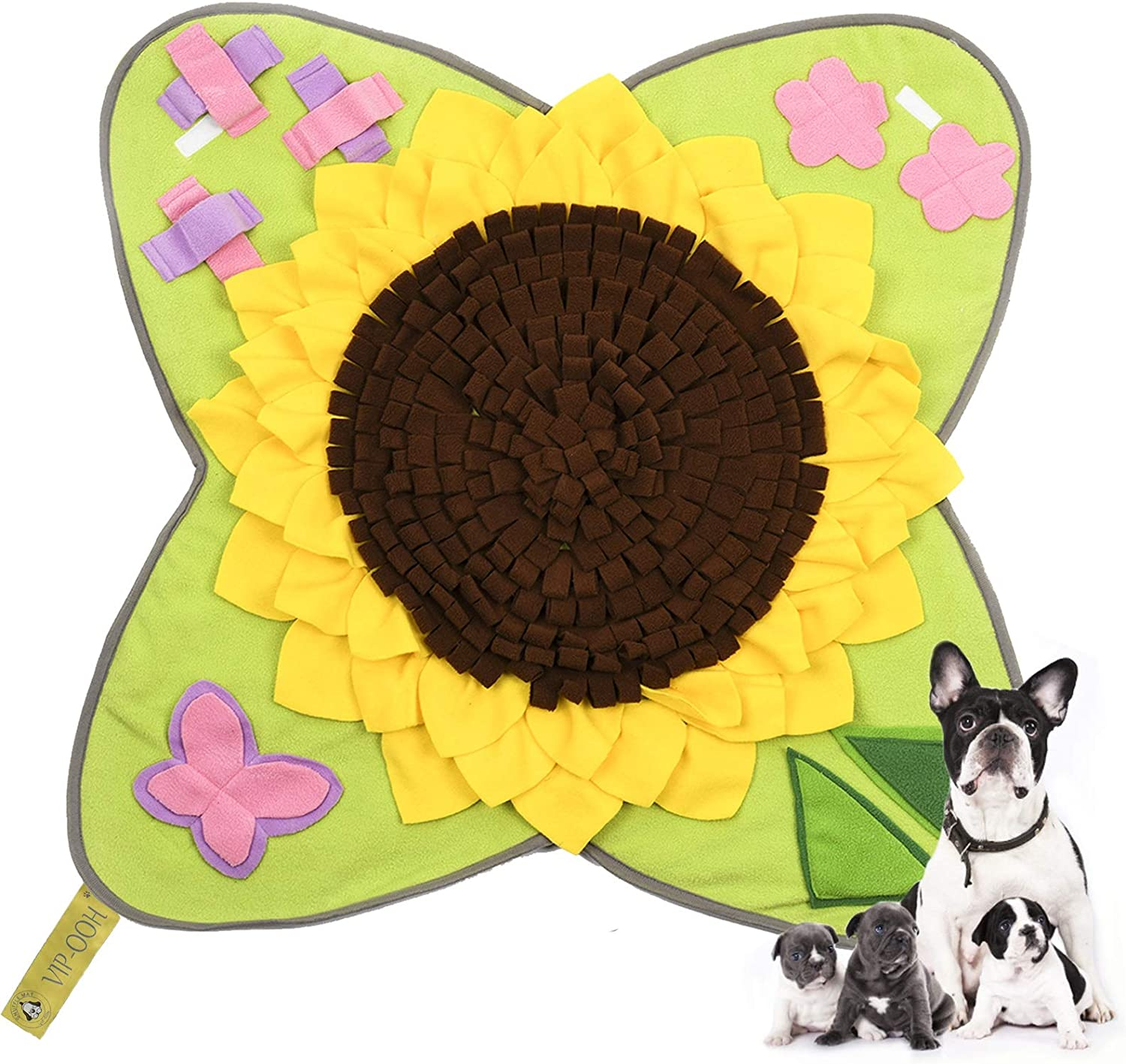 VIP-OOH Snuffle Mat for Dogs, Dog Puzzle Toys, Pet Large Feeding Mat, Nosework Training Mats Interactive Toys for Dogs, Durable Blanket Encourages Natural Foraging Skills and Stress Release