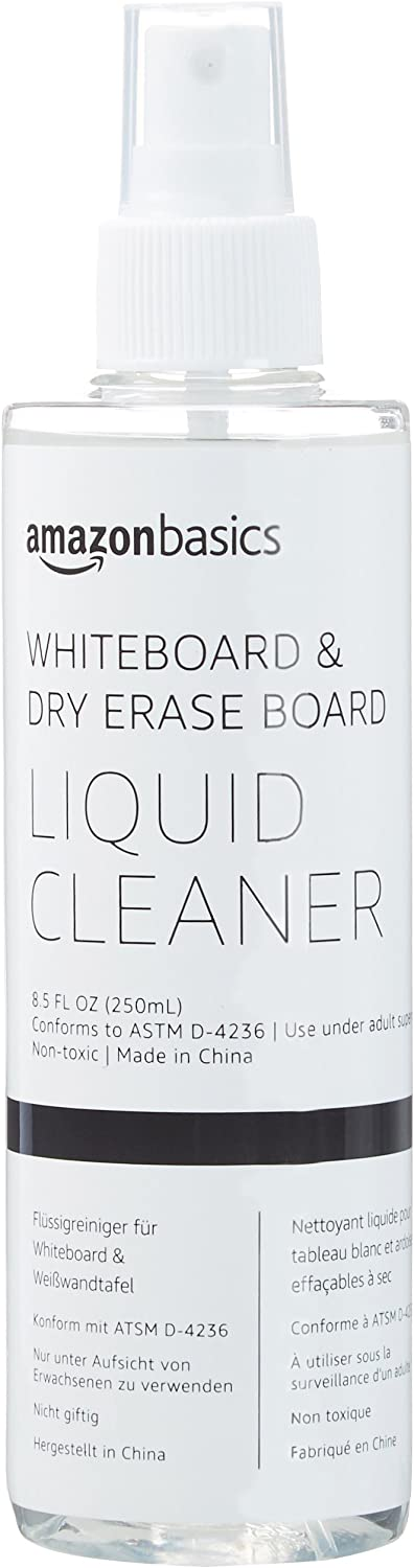 AmazonBasics Dry Erase Liquid Cleaner for Whiteboards - 8.5-Ounce, 1-Pack