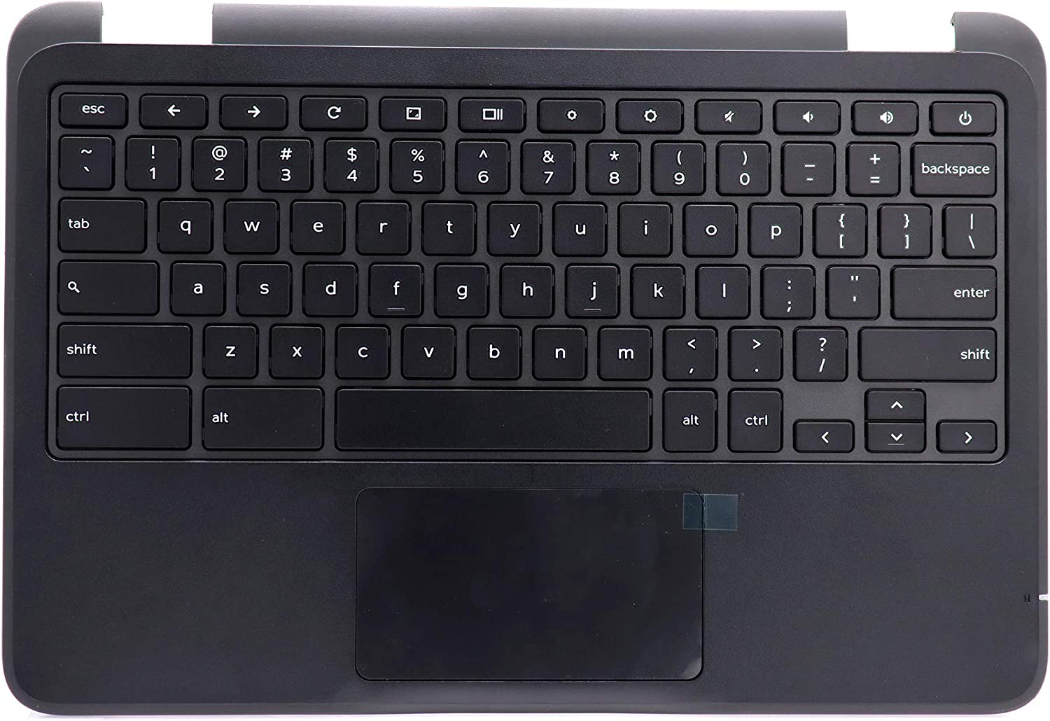 Deal4GO Top Cover Upper Case Palmrest Keyboard & Touchpad Replacement for Dell Chromebook 11 3180 3181 P26T VK0VC 0VK0VC