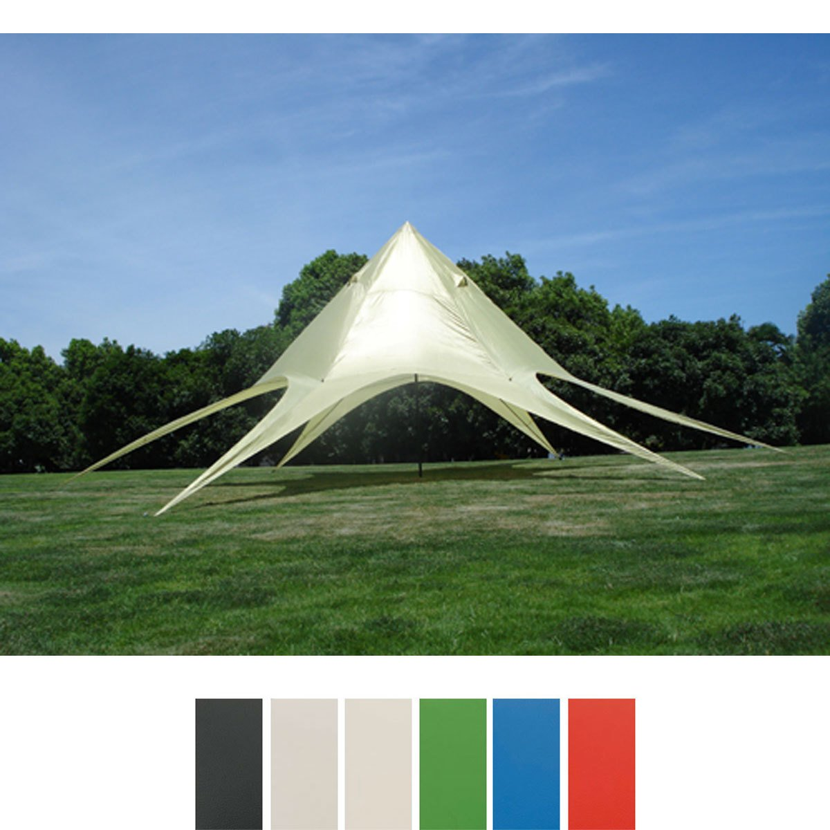 CLP Sternzelt 10 Meter Ø Durchmesser (überdachte Fläche Ca. 15 M²) Erleben  Sie Die Neue Zeltdimension Creme: Amazon.de: Küche U0026 Haushalt