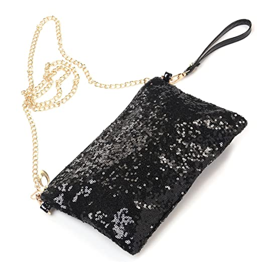ab2c2ff9e39 Image Unavailable. Image not available for. Color: OULII Fashion Glitter  Bag Handbag Party Evening ...