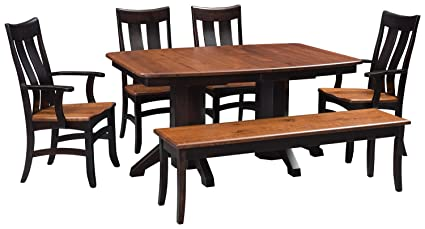 Wondrous Amazon Com Solid Wood Dining Room Kitchen Table Set Amish Beutiful Home Inspiration Ommitmahrainfo
