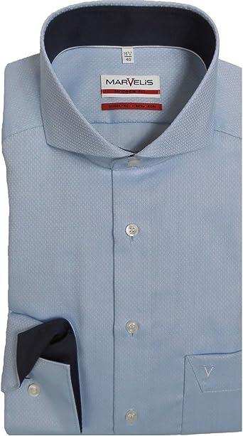 Camisa Marvelis Modern Fit 7246.64.11, cuello de aletas de ...