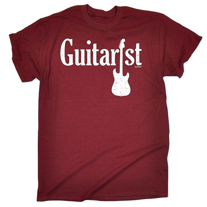 Fonfella Slogans 123t para Hombre para Guitarra eléctrica - diseño Amplio en la T-Camiseta de Manga Corta: Amazon.es: Ropa y accesorios