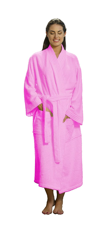Kimono Bamboo Bathrobe Terry Cloth Cotton Robe for Women and Men