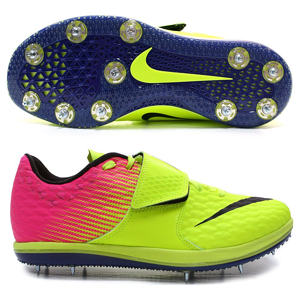 uk availability f581c b489e Amazon.com  Nike Mens Zoom HJ High Jump Elite Spikes Shoes Volt Pink Black  882028-999  Sports   Outdoors