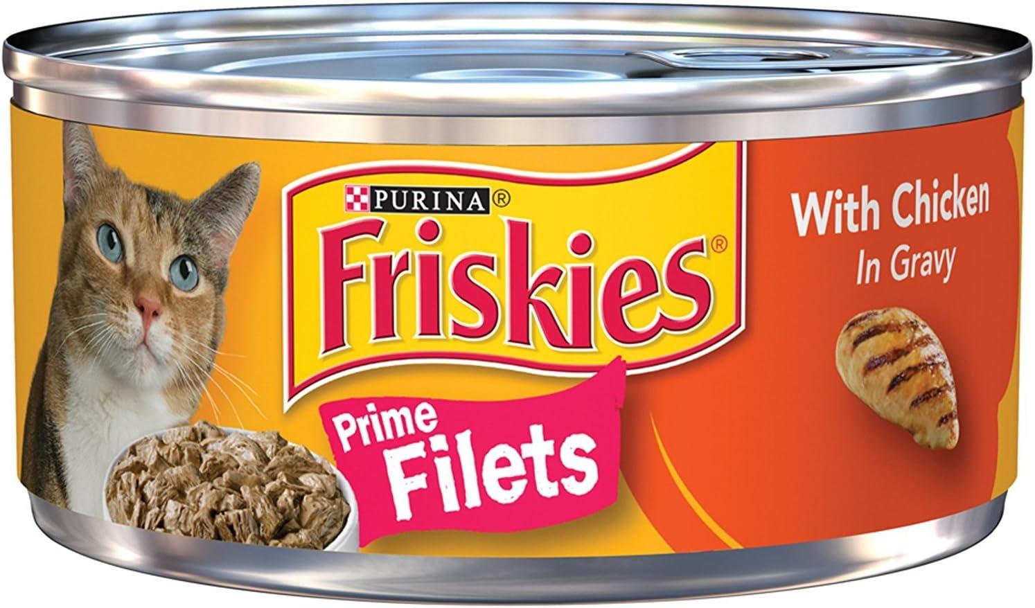 Purina Friskies Prime Filets Wet Cat Food - (24) 5.5 oz. Cans
