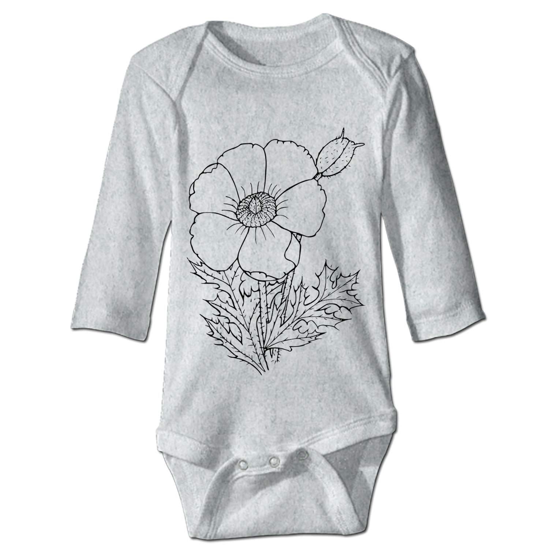 WilBstrn Grandkids Jumpsuit Soft Onesie Romper Comfy Bodysuit Flower Creeper