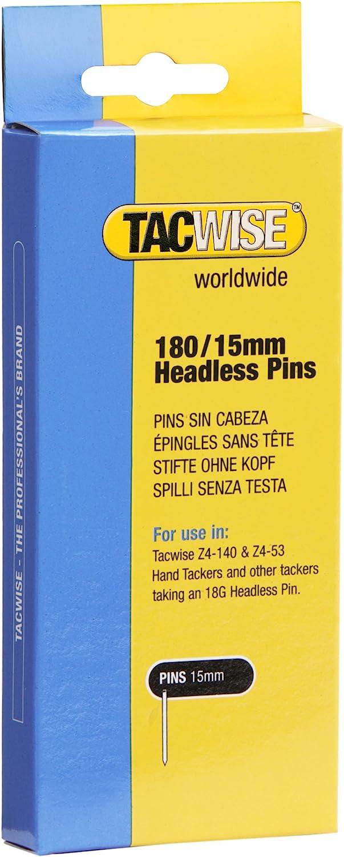 Tacwise 0478 Clavos sin cabeza de tipo 180/15 mm