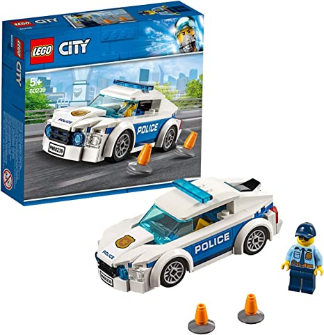 Lego 60239 City Police Police Patrol Car Car Toy With Policeman Minifigure Chas