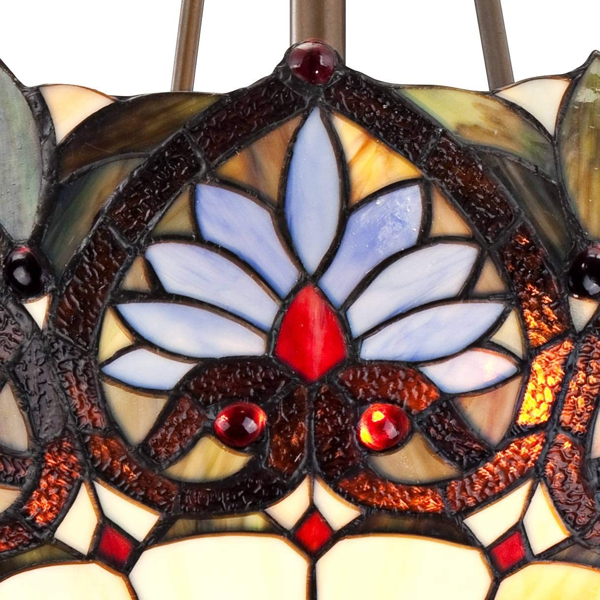Tropical Floral Vintage Bronze Tiffany Pendant Chandelier 20 1 2 Wide Bowl Stained Glass 3-Light Fixture for Dining Room House Island Entryway Bedroom Living Room – Robert Louis Tiffany