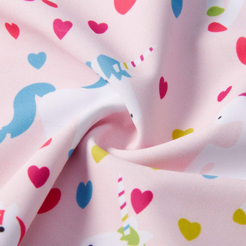 UNICOMIDEA Unicorn Bathing Suit Girls\' Swimwear Kids Cartoon Swimsuits Blue Ruffle One Piece Beach Suit for Holiday