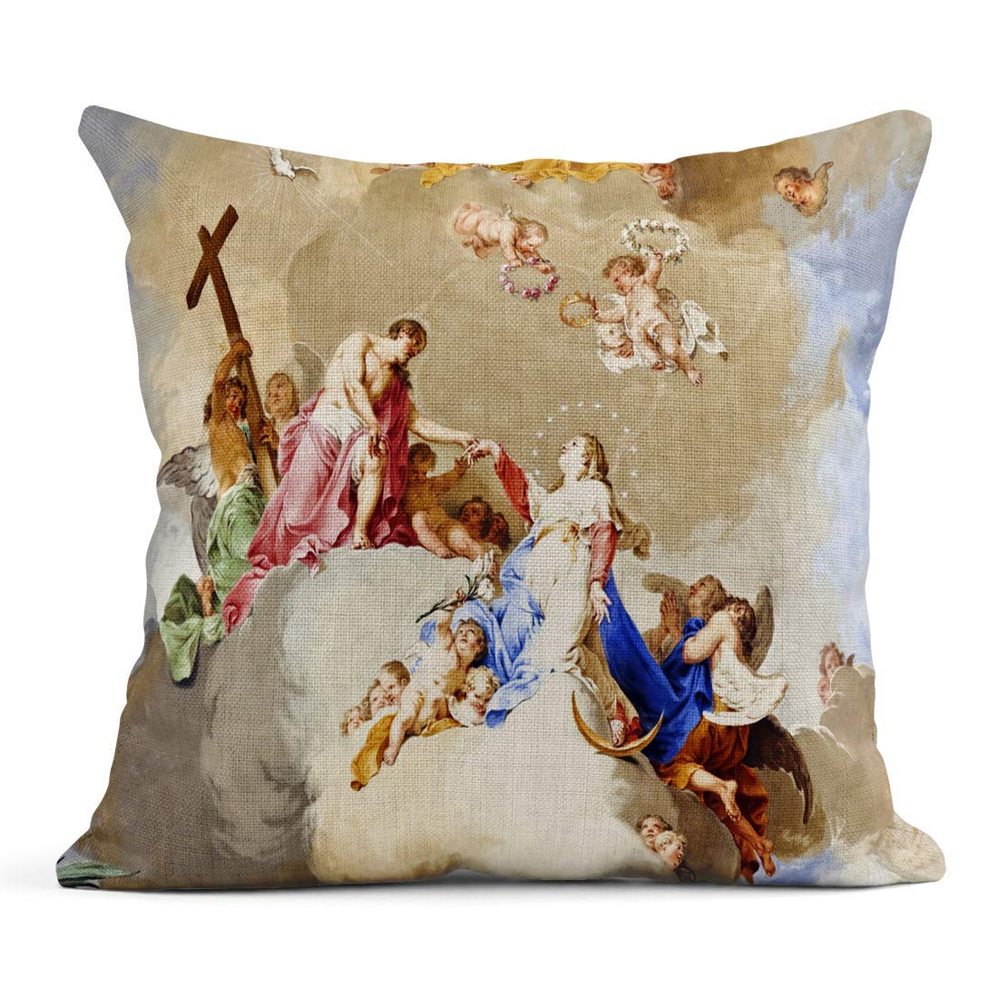 saletopk Funda de cojín Decorativa de Lino con diseño de ...