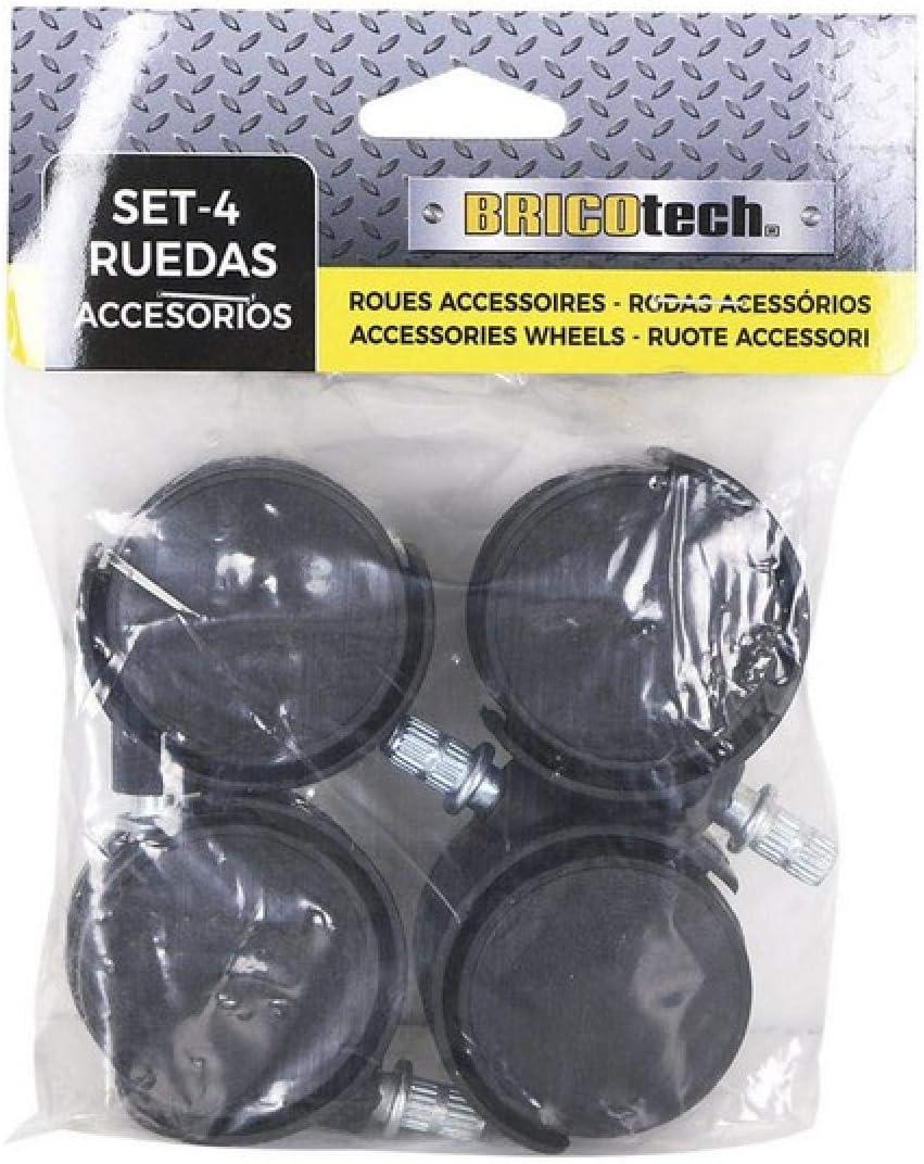 Bricotech S2202282 Ruedas 4 piezas Multicolor