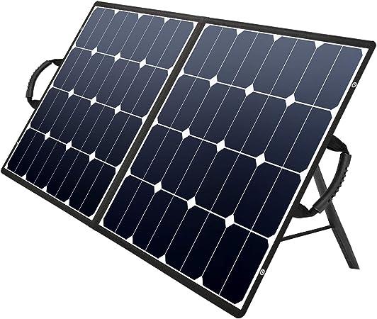 Kazeila 100W Portable Solar Panel for Solar Generator Power Station,Foldable Solar Charger Kit with DC//18V USB//5V PD//45W QC3.0 Output,Use for RV Van Boat Camping Smartphone Laptop