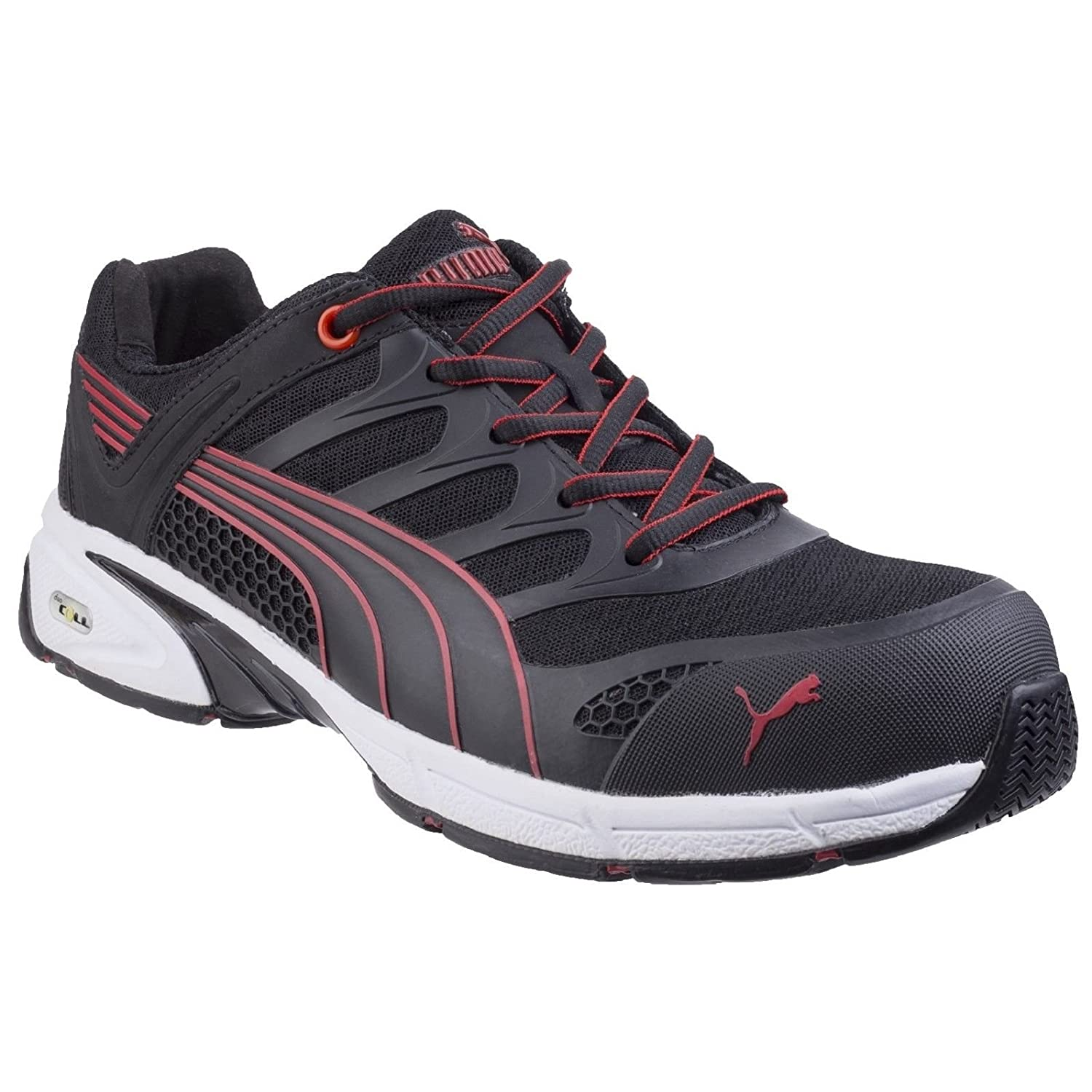 sports shoes best quality pretty cool Puma Safety Mens Fuse Motion Trainers (7.5 UK) (Black/Red ...