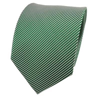 TigerTie diseñador corbata de seda - verde verde esmeralda plata ...
