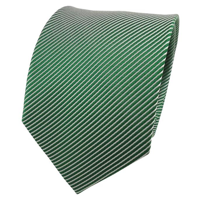 Silk Schicke Krawatte grün weiss schwarz gepunktet reine Seide