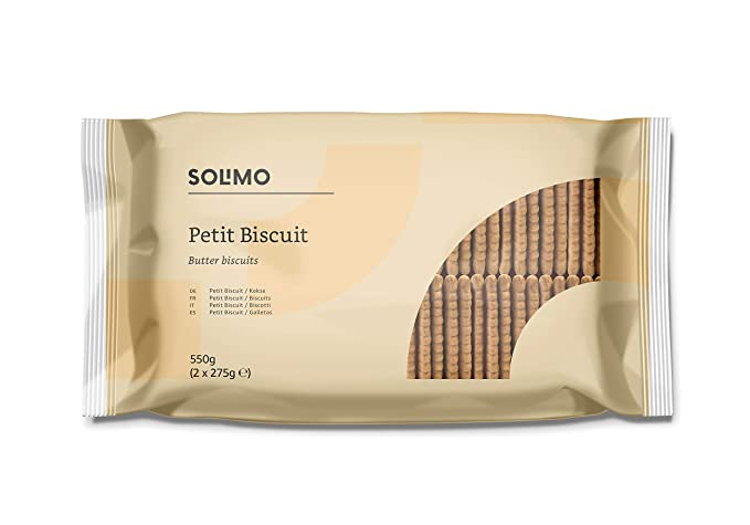 Marca Amazon- Solimo - Galletas Petit Biscuits - 3 packs de 550g